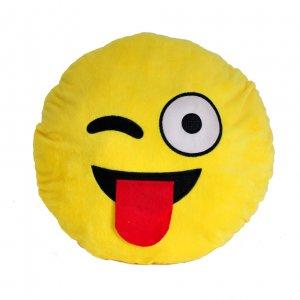 """Подушка Emoji """"Crazy Face Emoji"""" 27 см ярко-желтая"""
