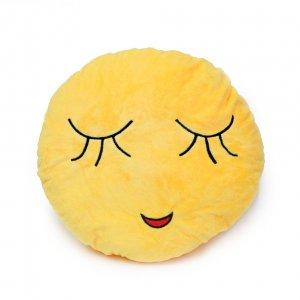 Подушка Emoji Relieved Face 30 см ярко-желтая