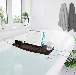 Столик-полка для чтения книг в ванной Umbra Aquala темно-коричневая