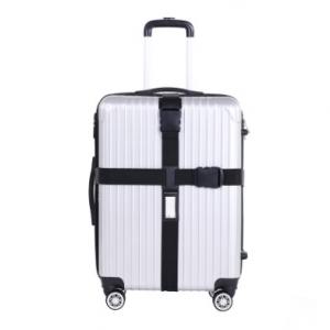 """Ремень на чемодан """"Happy travel"""" черный"""