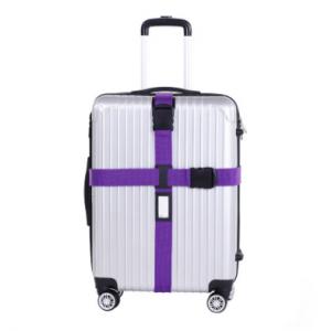 """Ремень на чемодан """"Happy travel"""" радужный фиолетовый"""