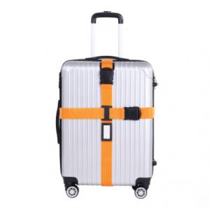 "Ремень на чемодан ""Happy travel"" оранжевый"
