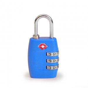 Кодовый навесной замок на чемодан ТSA голубой
