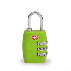 Кодовый навесной замок на чемодан ТSA зеленый