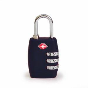 Кодовый навесной замок на чемодан ТSA черный