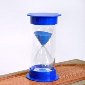 Песочные часы 10 минут синяя подставка