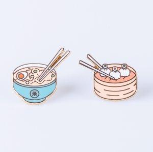 Набор из 2-х металлических булавок Pinaholic Asian Food