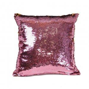 Наволочка с пайетками Pink-Gold