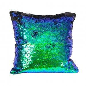 Наволочка с пайетками BLUE-SILVER Love для подушки