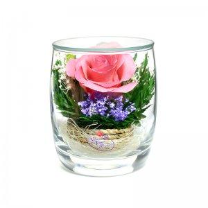 Композиция из розовой розы (SMRp)
