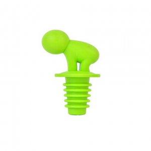 """Стоппер для бутылки """"Человечище"""" зеленый + маркеры для бокалов"""
