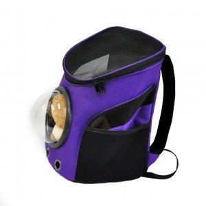 Рюкзак с иллюминатором, черно-фиолетовый