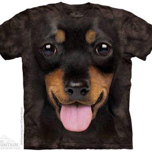 Детская футболка Big Face Dachshund Puppy Kids