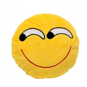 "Подушка Emoji ""Happy"" 27 см ярко-желтая"