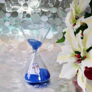 Песочные часы Котик синие 7 минут