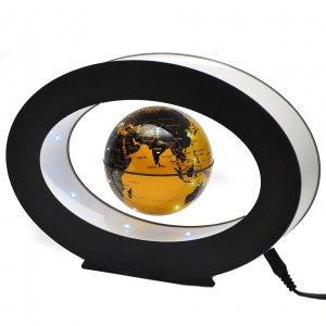 Левитирующий глобус в овале золотой