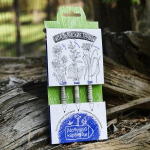 """Набор графитных растущих карандашей """"Итальянские травы"""" 3 шт"""