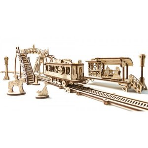3D-пазл UGEARS Трамвайная линия