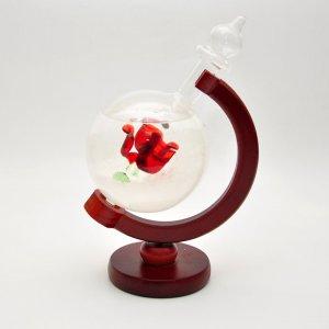 "Штормгласс ""Globe with Rose"""