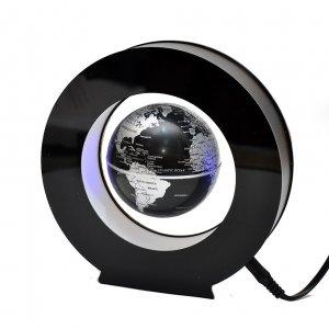 Левитирующий глобус в круге черный
