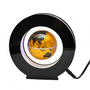 Левитирующий глобус в круге золотой
