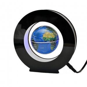 Левитирующий глобус в круге синий