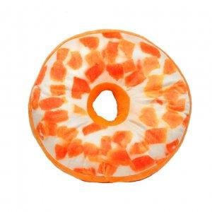 Подушка-пончик в апельсиновой глазури 35 см