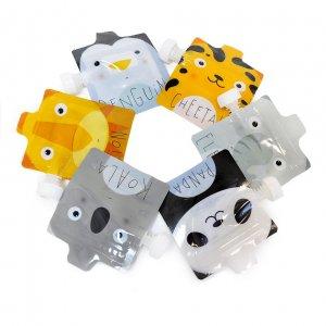 Набор пакетиков для детского пюре ZooAnimals (6 шт)  №1