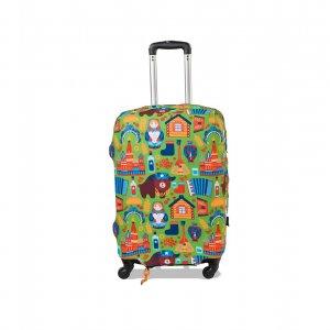 Чехол для чемодана экстрапрочный Добро пожаловать (неопрен)