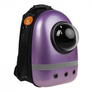 Рюкзак-капсула с иллюминатором со светоотражающей полосой, фиолетовый