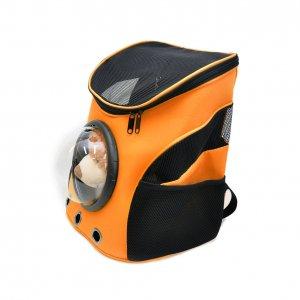 Рюкзак с иллюминатором, черно-оранжевый