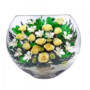Композиция из роз и орхидей (EJMc) (УЦЕНКА)