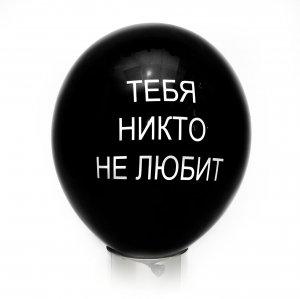 """Оскорбительный шарик """"Тебя никто не любит"""""""