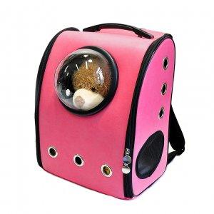 Рюкзак с иллюминатором, ярко-розовый