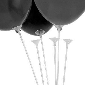 Пластиковые палочки для воздушных шаров белые (комплект)