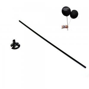 Пластиковые палочки для воздушных шаров черные (комплект)