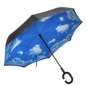 Зонт наоборот Небо с облаками