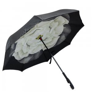 Зонт наоборот Белый цветок