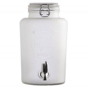 Диспенсер для напитков 5 литров белый
