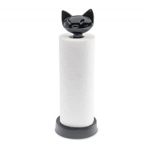 Держатель для бумажных полотенец MIAOU, чёрный
