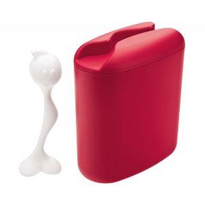 Контейнер для хранения продуктов с ложкой HOT STUFF L, красный