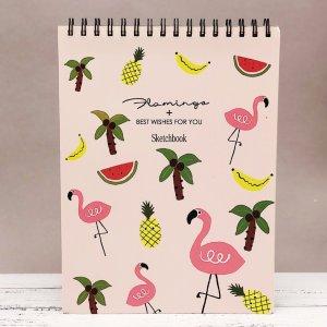 "Скетчбук ""Flamingo"" pink"