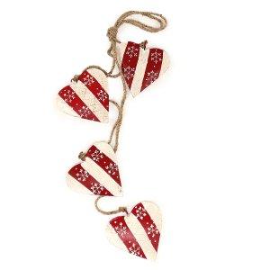 Гирлянда подвесная Christmas Hearts, 4 шт.