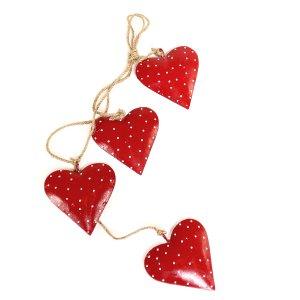 Гирлянда подвесная Red Hearts, 4 шт.