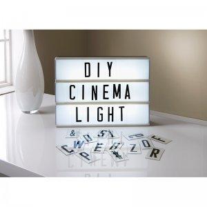 Lightbox со светящими буквами белый