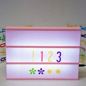 Lightbox со светящими буквами розовый