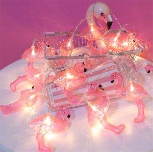 "Гирлянда ""Фламинго"" 20 огней (батарейки), 3 м"