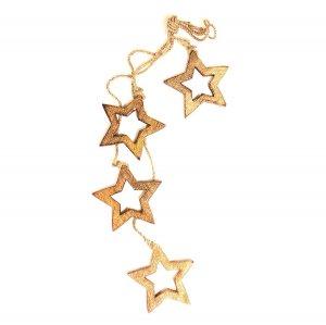 Гирлянда подвесная Wooden Stars, 4 шт.