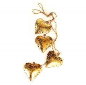 Гирлянда подвесная Golden Hearts, 4 шт.
