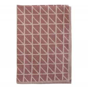 Кухонное полотенце с принтом Twist бордового цвета